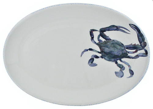 Blue Crab Oval Serving Platter