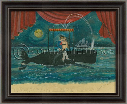 Moonlight Mermaid on Cape Cod Framed Art