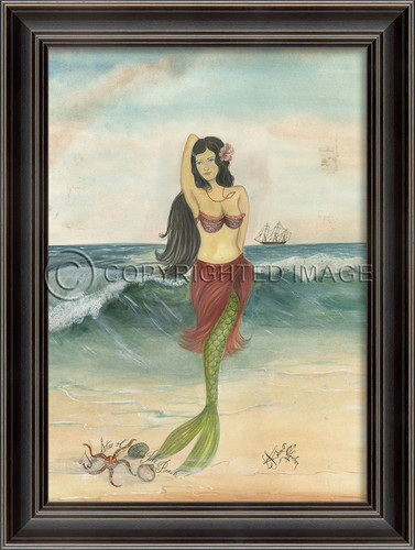 Star of the Beach Mermaid Wall Art