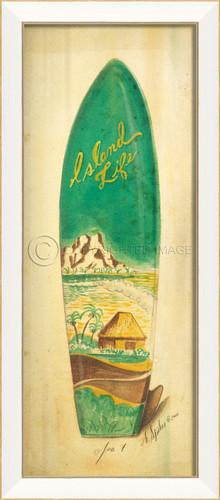 Island Life Surfboard Art