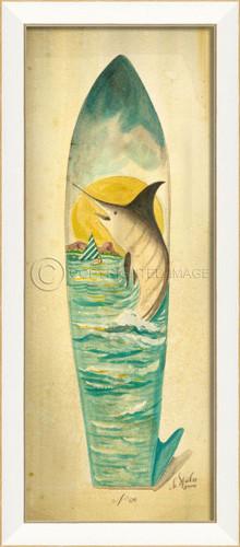 Large Marlin Surfboard Art