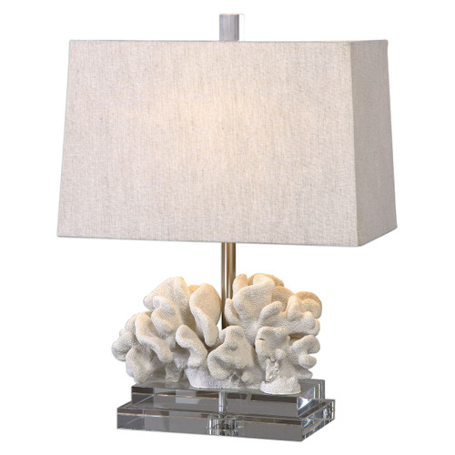 Ivory Coral Sculpture Table Lamp