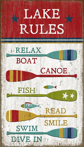 Lake Rules Wall Art Sign