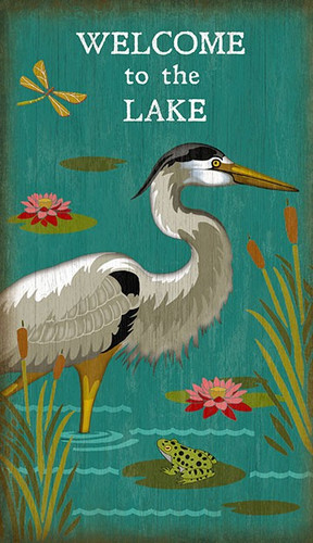 Welcome Wall Decor with Heron