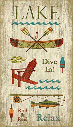 Lake Fun Wall Art Sign