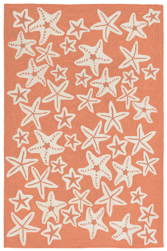 Starfish Coral Orange Rug