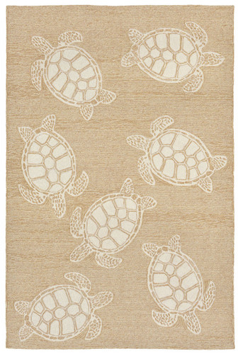 Sea Turtle Tan and Ivory Rug
