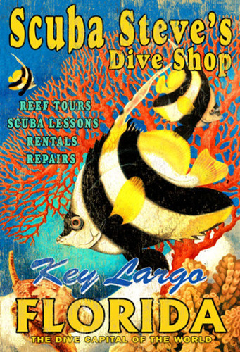 Scuba Steve's Dive Shop Custom Art