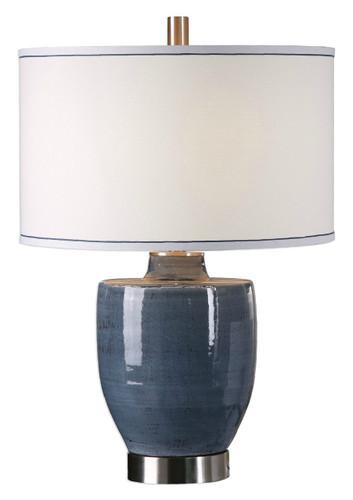 Newport Blue Glaze Lamp