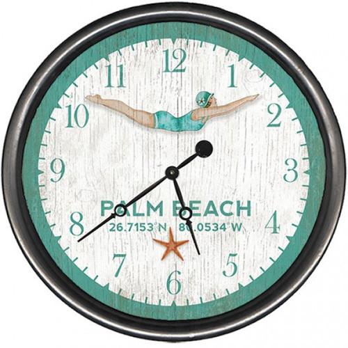 Dive Girl Coastal Clock - Custom