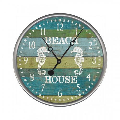 Seahorse Aqua Beach House Clock - Custom