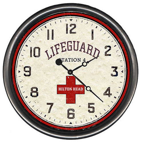 Beach Lifeguard Clock - Custom