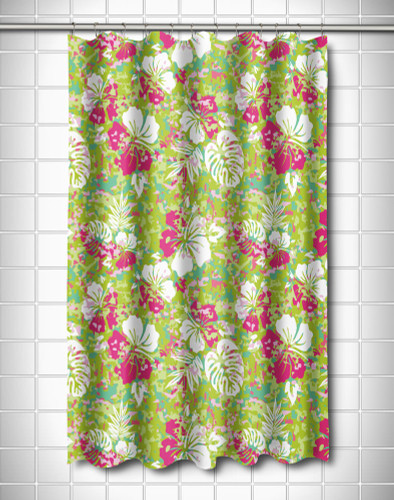 Key West Tropical Shower Curtain