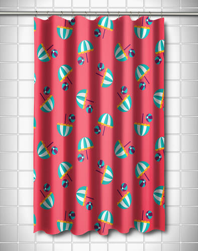 Umbrellas and Beach Balls Shower Curtain