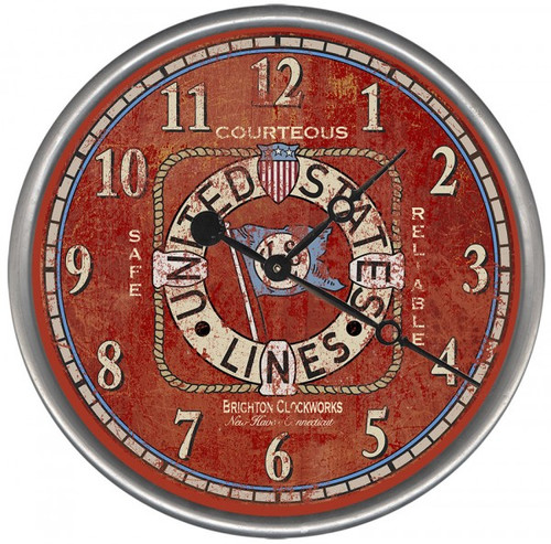 Maritime Shipping Lines Clock - Custom