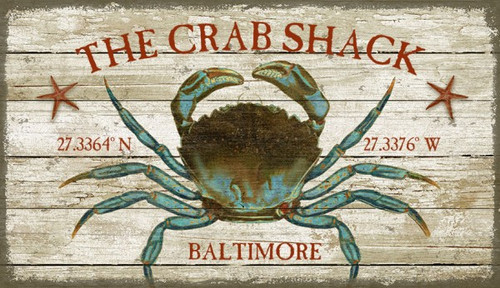 The Crab Shack Beach House Sign - Custom