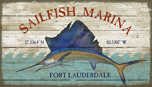 Sailfish Marina Coastal Sign - Custom