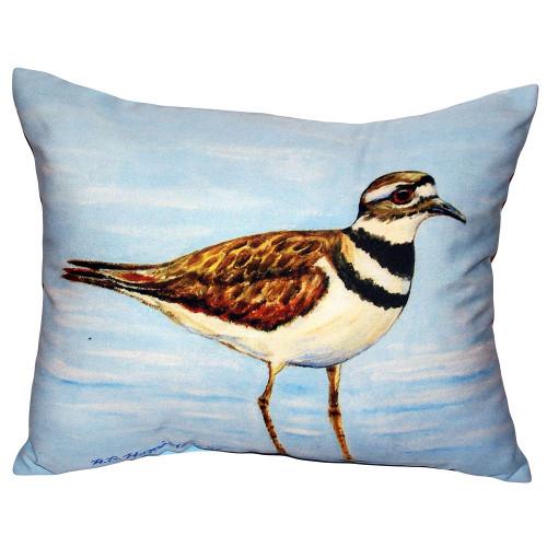 Killdeer Shorebird Indoor-Outdoor Pillow