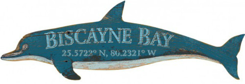 Blue Dolphin Custom Latitude Sign