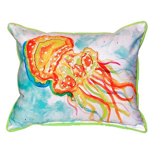 Orange Jellyfish Pillow
