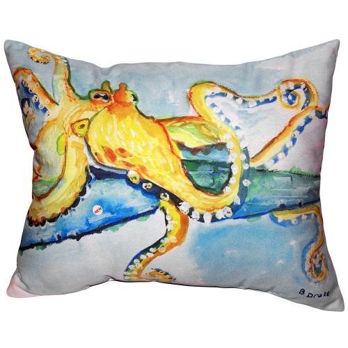 Gold Octopus Pillow