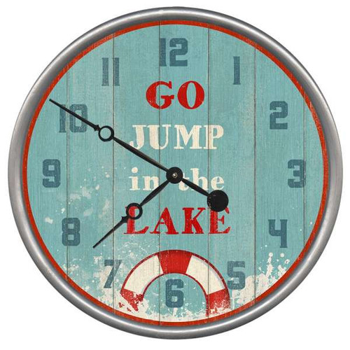 Jump in the Lake Clock - Custom