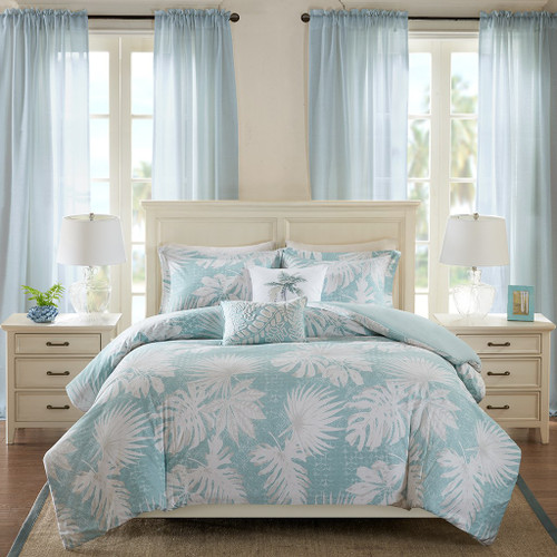 Sea Palm Grove Duvet Set - Queen Size