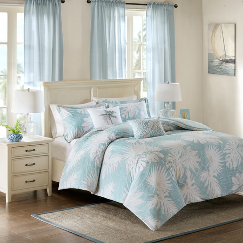 Sea Palm Grove Duvet Set - King Size