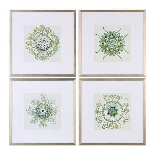 Organic Sea Symbols Print Art Set of 4