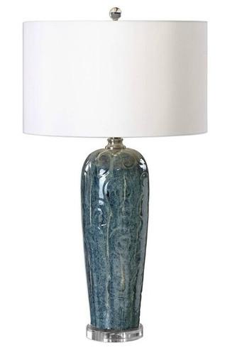Maira Blue Ceramic Table Lamp