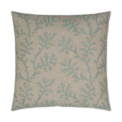 Aqua Coral Garden Luxury Pillow
