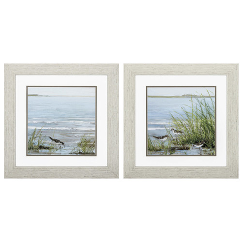 Afternoon at the Shore Framed Prints