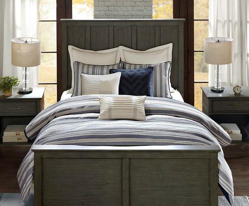 Coastal Farmhouse Comforter Queen Size 8-piece Bedding