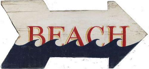 Beach Wave Arrow Sign
