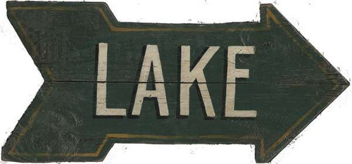 Green Lake Arrow Sign