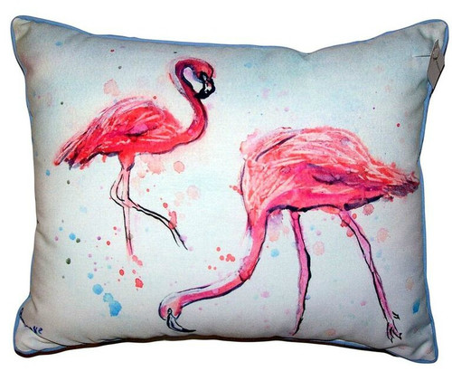 Funky Flamingos Indoor-Outdoor Pillow