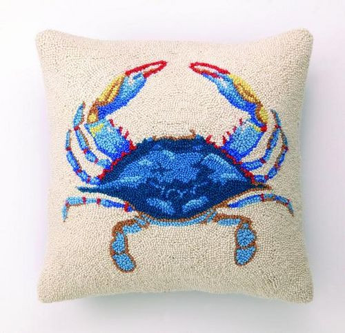 Blue Crab Hook Pillow