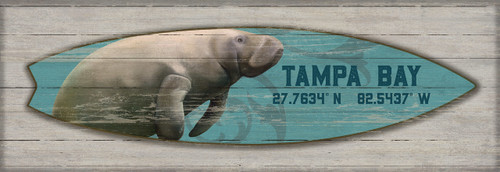 Manatee Surfboard Custom Art