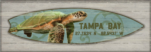 Sea Turtle Love Surfboard Custom Art