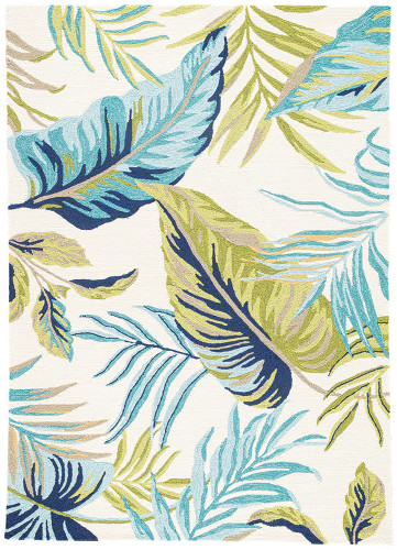 Catalina Fraise Tropical Indoor-Outdoor Area Rug