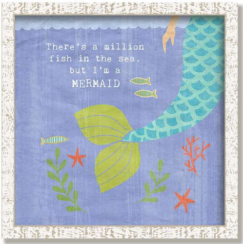 Whimsical Mermaid Tail Framed Art