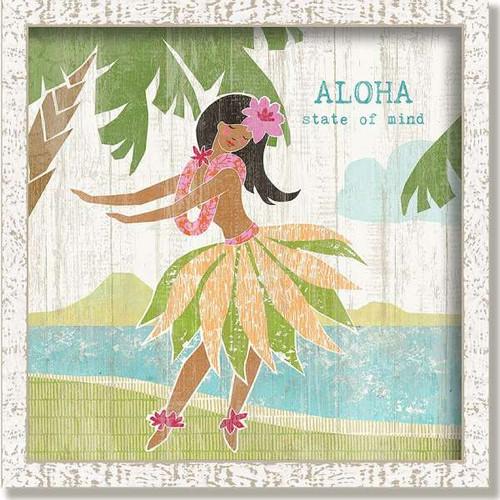 Aloha Hula Girl Framed Art