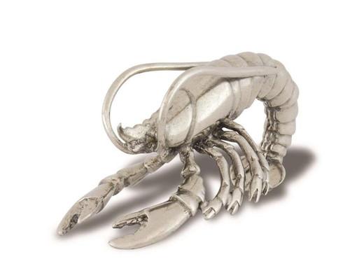 Pewter Prawn Napkin Ring-Set of 2