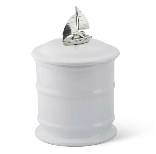 Small Sail Boat Stoneware Canister