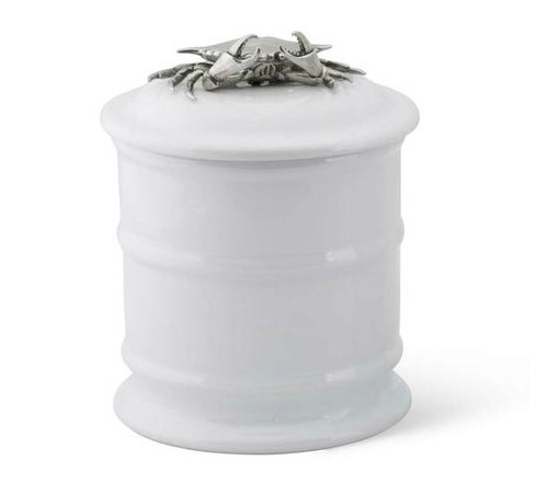 Short Crab Stoneware Canister