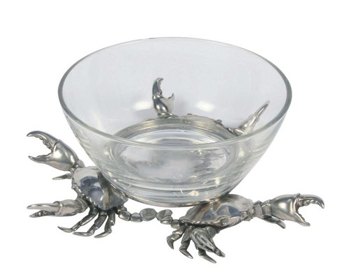 Large Crab Glass Dip Bowl