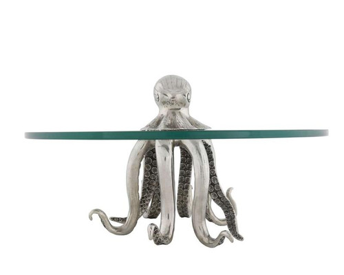 Small Pewter Octopus Dessert Stand