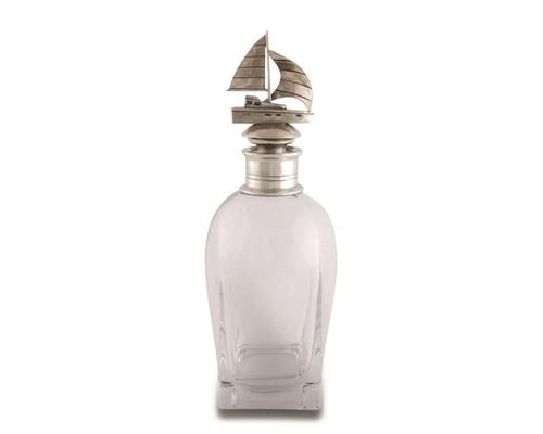 Short Sail Boat Liquor Decanter