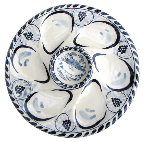 Blue Crab Oyster Plates - Set of 2