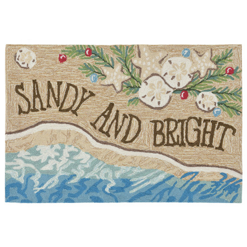 Sandy and Bright Seashell Holiday Rug